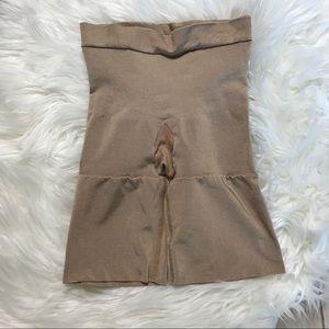Spanx Nude High Waisted Shorts Shapewear